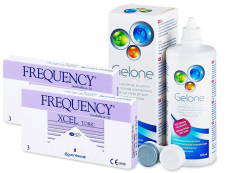 FREQUENCY XCEL TORIC XR (2x3 Linsen) +  Gelone 360ml