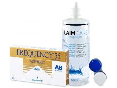 Frequency 55 Aspheric (6 Linsen) +Laim-Care400ml
