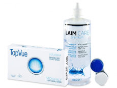 TopVue Monthly (6Linsen) + Laim-Care 400 ml