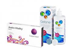 Avaira Vitality Toric (3 Linsen) + Gelone 360 ml