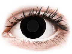 CRAZY LENS - Black Out - Tageslinsen mit Stärke (2 Linsen)
