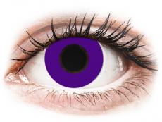 CRAZY LENS - Solid Violet - Tageslinsen mit Stärke (2 Linsen)