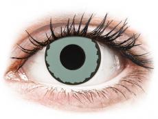 CRAZY LENS - Zombie Virus - Tageslinsen mit Stärke (2 Linsen)