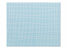 Brillenreinigungstuch - Hellblau mit Gitter