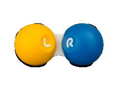 Kontaktlinsenbehälter - gelb & blau