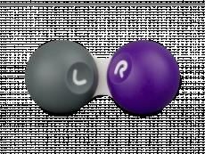Kontaktlinsenbehälter - grau und violett