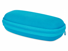 Brillenetui mit Reisverschluss für Kinder - blau
