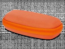 Brillenetui mit Reisverschluss für Kinder - orange