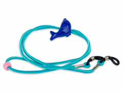Brillenkordel in blau – Delphin
