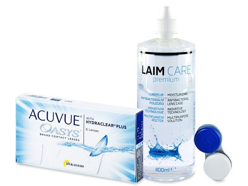 Acuvue Oasys (6Linsen) + Laim Care 400ml